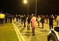 Antalyada şok görüntüler Dansözlü drift partisine polis baskını
