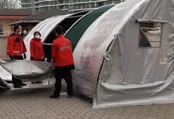 Son dakika: Corona virüs hastaneye girmeden triaj çadırlarında teşhis edilecek