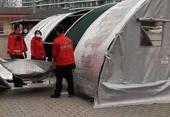 Corona virüs hastaneye girmeden triaj çadırlarında teşhis edilecek