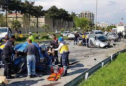 Son dakika haberler: Katliam gibi kaza böyle görüntülendi Freni boşalan TIR...