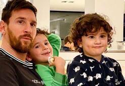 Messi antrenmanını çocuğuyla birlikte gerçekleştirdi