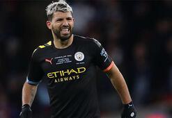 Sergio Agüero Manchester City ev antrenmanına liderlik ediyor