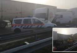 Son dakika haberi: 22 TIR zincirleme kaza yaptı: 1 ölü