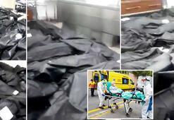 Son dakika haberi: Corona hastanesinde tüyler ürperten fotoğraflar Ceset torbaları...