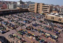 Halk pazarı, corona virüs tedbiri için kapatıldı