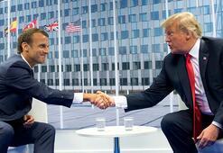 Trump ve Macron, corona virüsü görüştü