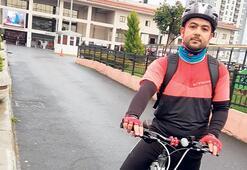 Genç doktora bisiklet jesti