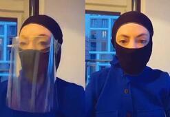 Akasya Asıltürkmen corona virüs için maske yaptı
