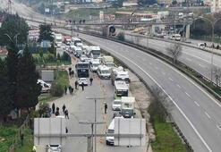İstanbul sınırında kilometrelerce araç kuyruğu