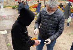 Pendikte 20 yaşından küçük pazarcılara ceza