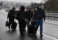 Son dakika: Giriş - çıkışlar kapatıldı Şehre yürüyerek girdiler