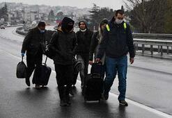 İstanbul sınırı kapatıldı Şehre yürüyerek girdiler