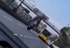 Sultangazide tek teker kazası kamerada