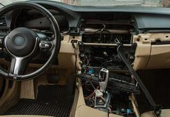 Küçükçekmecede lüks otomobilin tüm elektronik aksamı 3 saatte çalındı