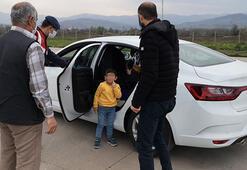 İki çocuğu ile seyahat eden sürücüye 784 lira ceza
