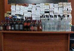 Adanada operasyon Kaçak sigara ve içki ele geçirildi