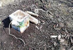 Bitlis'te, toprağa gömülü 20 kilo EYP ele geçirildi