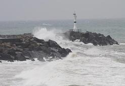 Karadenizde şiddetli fırtına