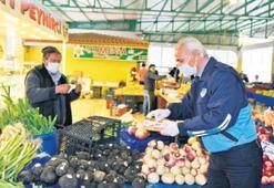 Çiğli'de en sıkı önlem pazarlarda