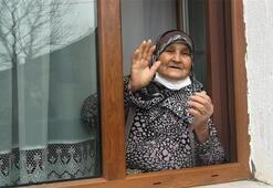 80 yaşındaki Nazmiye nine, corona virüsü yendi