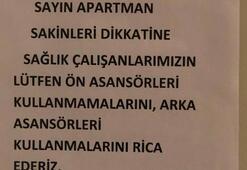 Sinopta sağlık çalışanlarına tepki çeken yazı Ayrımcı tavrınız...