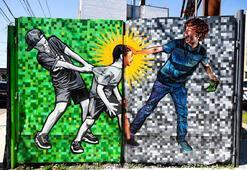 Rengarenk grafitileriyle Brooklyn sokakları