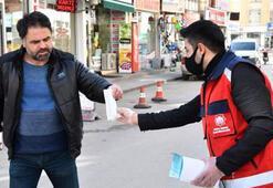 Aksarayda, belediyeden maske dağıtımı