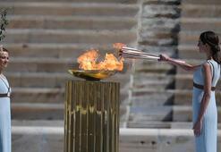 Olimpiyat meşalesi, koronavirüs nedeniyle sergiden kaldırılacak