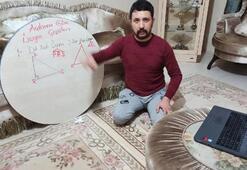 Eğitim engel tanımadı Yer sofrasında online ders