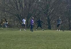 Mourinho tepkisi Parkta idman...