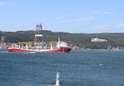 Fatih sondaj gemisi, Çanakkale Boğazından geçti
