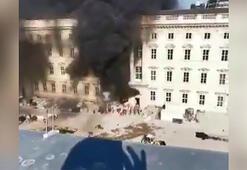 Almanya'daki Kent Sarayı'nda yangın: 1 yaralı