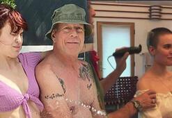 Bruce Willis kızının saçlarını traş etti