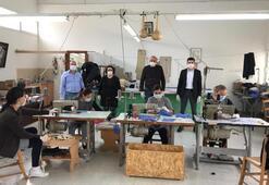 KKTC'deki kader mahkumları maske üretimine başladı