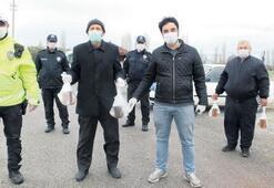 Arıcılardan polis ekiplerine ikram
