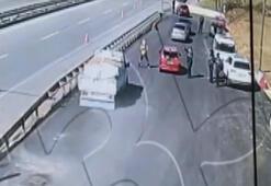 Acil Tıp Teknisyenine kamyonetin çarpma anı kamerada