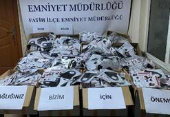 Fatihte 11 bin adet sahte maske ele geçirildi