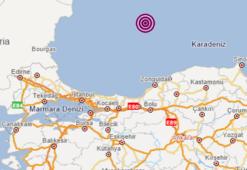 Son dakika haberi... Karadenizde deprem