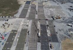 Havalimanı'ndaki hastanenin zemin betonu dökülmeye başlandı