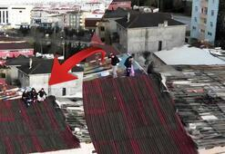 Ne işiniz var çatıda İnin aşağı