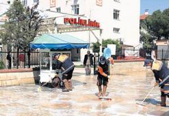 Denizli'de hastane yolları temizlendi