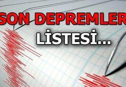Deprem mi oldu Son depremler listesi: AFAD - Kandilli deprem haberleri