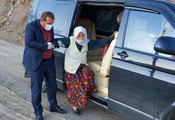 80 yaşında corona virüsü yendi, makam aracı ile evine gitti