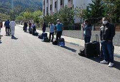 Karantina süreleri dolan 135 kişi evlerine gönderildi