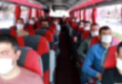 İhbar edilen otobüsten 4 corona virüslü çıktı