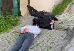 İstanbulda sıcak dakikalar Araçtan poşetle bir cisim atılınca...
