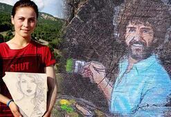 Çoban ressamın eserleri doğayı süslüyor