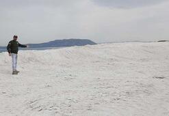 Salda Gölündeki tahribattan geriye bu manzara kaldı