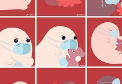 İllüstrasyonlarla koronavirüs dönemi