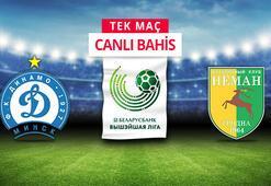 Dinamo Minsk - Neman Grodno maçı canlı bahis heyecanı Misli.comda